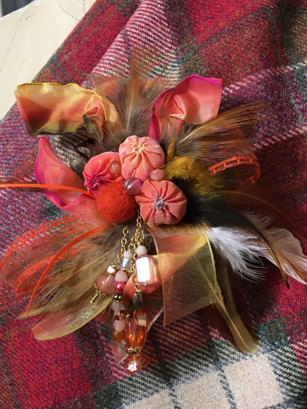 autumn sunrise brooch