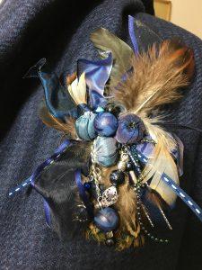 deep blue ocean brooch