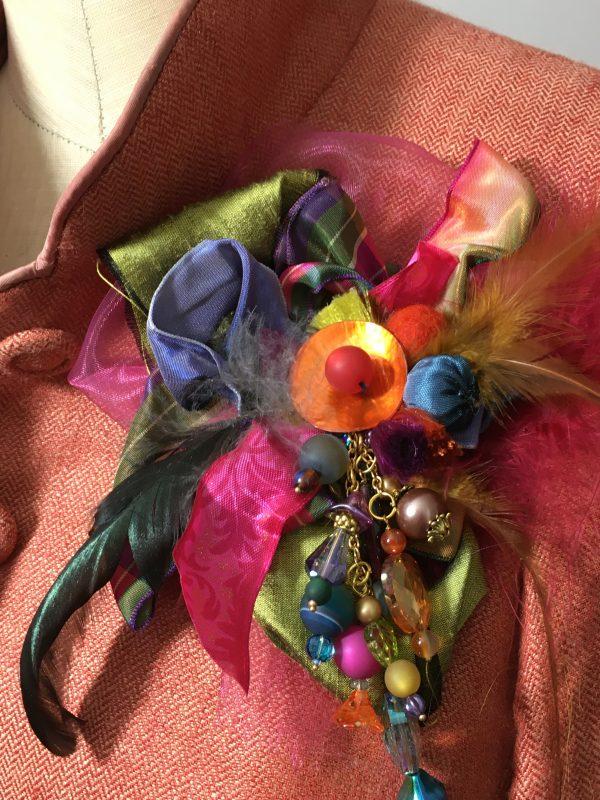 harlequin cluster brooch